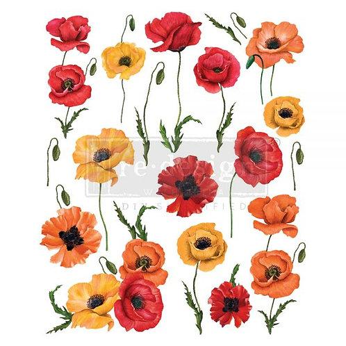 "Redesign Decor Transfers ® Poppy Gardens 24""x30"""
