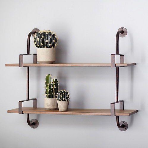 M.R. Double Shelf Wall Rack