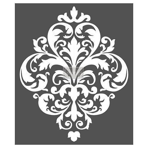 Redesign Stencil - Large Damask