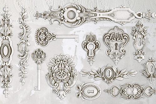 Lock and Key IOD Decor Mould