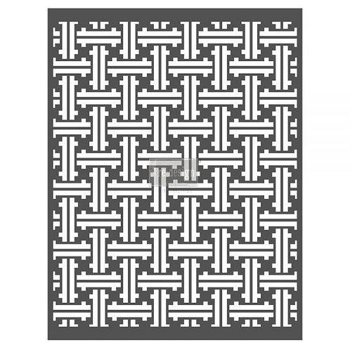 Redesign Stencil - Basket Weave