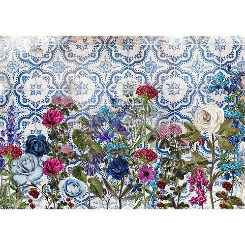 "Redesign Decor Rice Paper - Moonlight Garden 11.5""x16.25"""