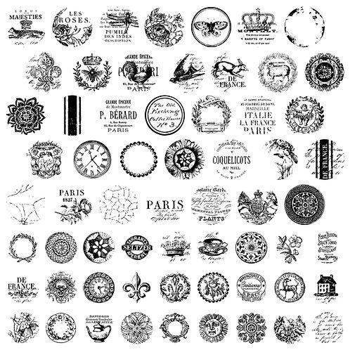 Knob Toppers IOD Decor Stamp