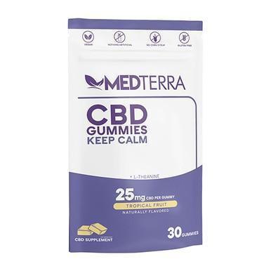 Medterra - CBD Edible - Keep Calm Tropical Fruit Isolate Gummies - 25mg