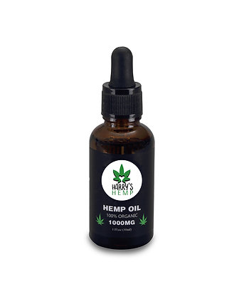 Hemp Harry's Hemp Shop Seed Oil - Premium Grade  - 1000MG - 1 Fl. Oz. / 30 Ml.