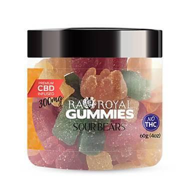 RA Royal CBD - CBD Edible - Sour Bears Gummies - 300mg-1200mg
