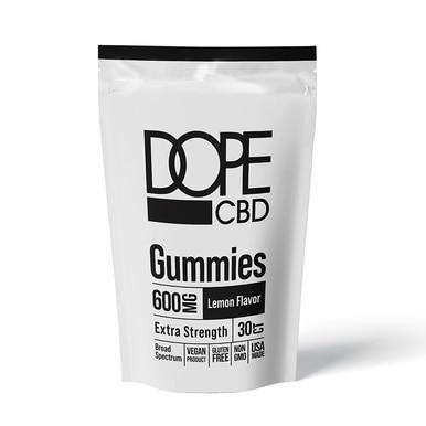 Dope CBD - CBD Edible - Extra Strength Lemon Gummies - 600mg