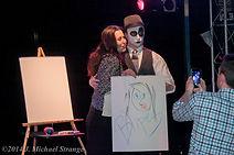 clown show, juggling, clown gets a volunteer