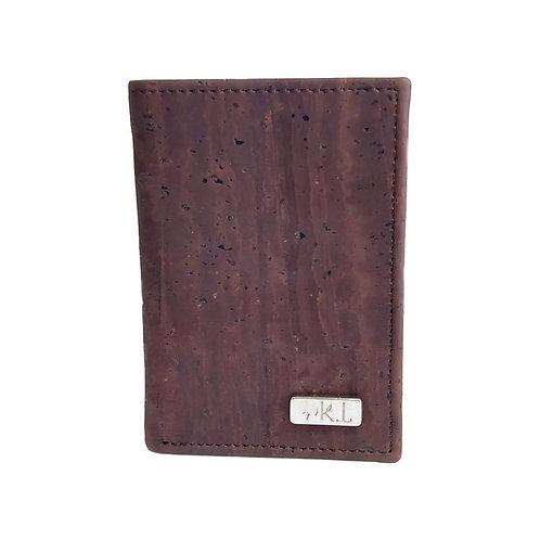 Porte cartes homme marron