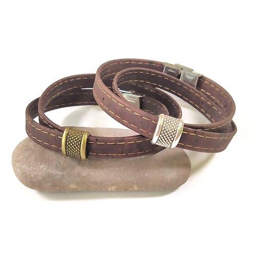 Bracelet en liège Baptiste marron