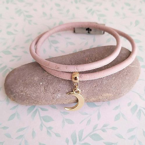 Bracelet en liège Lune