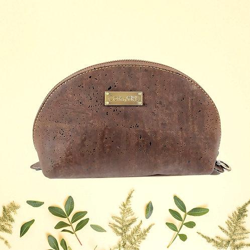 pochette en liège marron naturel pour femme