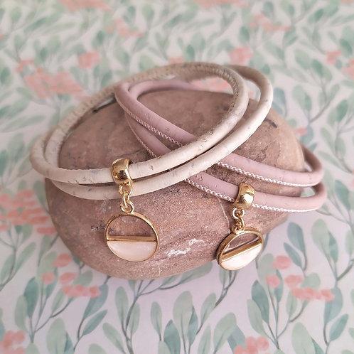 Bracelet en liège nacré