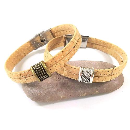 Bracelet en liège J.B beige