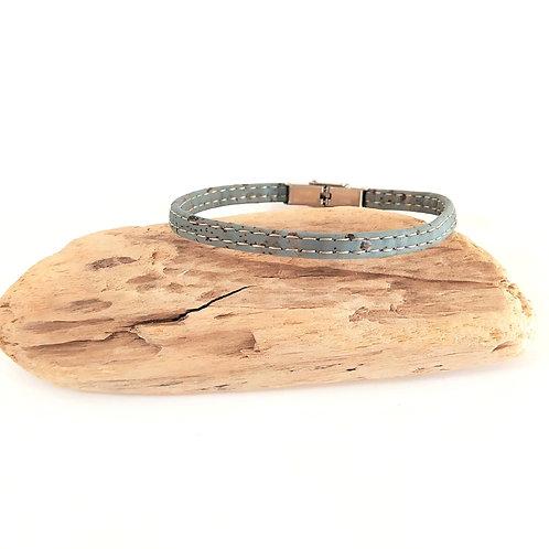 bracelet en liège fin homme bleu