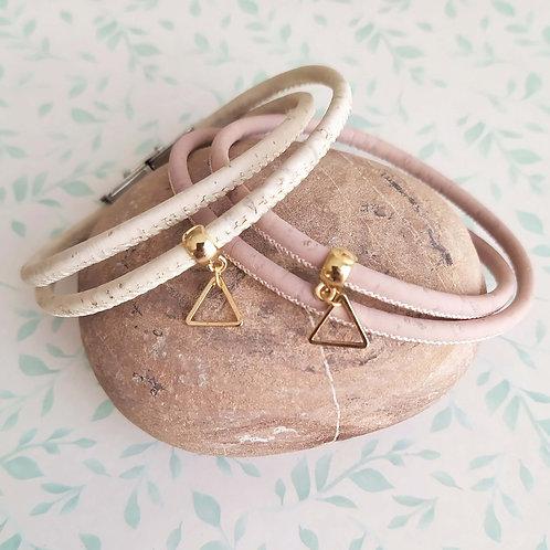 Bracelet en liège triangle