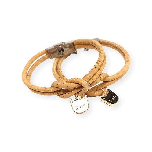 Bracelet en liège chat