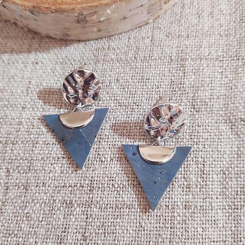Boucles d'oreilles en liège Capucine