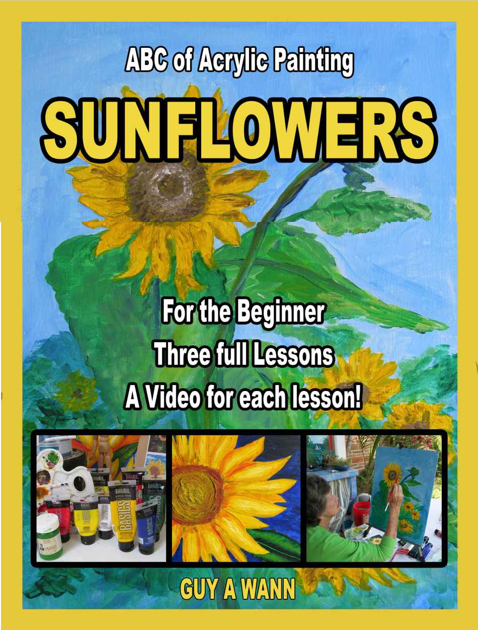 abc how to paint sunflowers