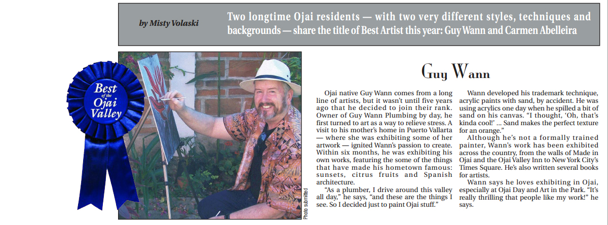 Guy Wann article from ojai news