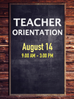 Teacher Orientation