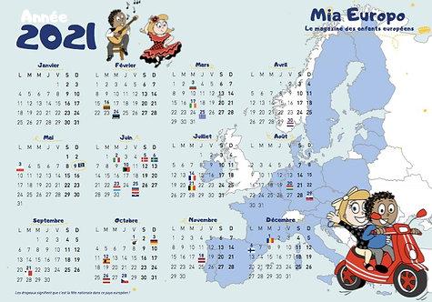 Le calendrier 2021 Mia Europo
