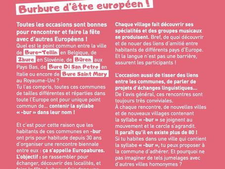 Burbure d'être Européen !