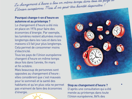 Le changement d'heure en Europe