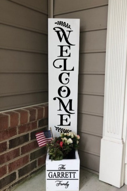 Porch Sign with Planter
