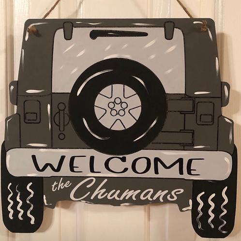 Jeep Door Hanger - Finished