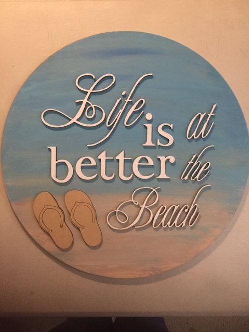 """Life is Better at the Beach"" Door Hanger - DIY Kit"
