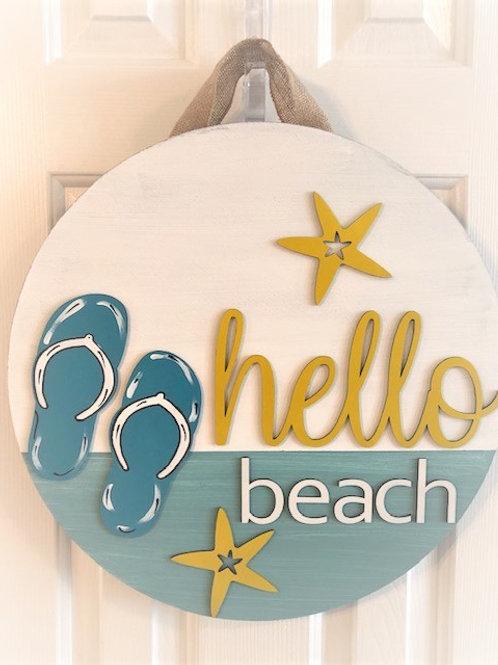 """""""Hello Summer"""" or Hello Beach"""" Door Hanger - DIY Kit"""