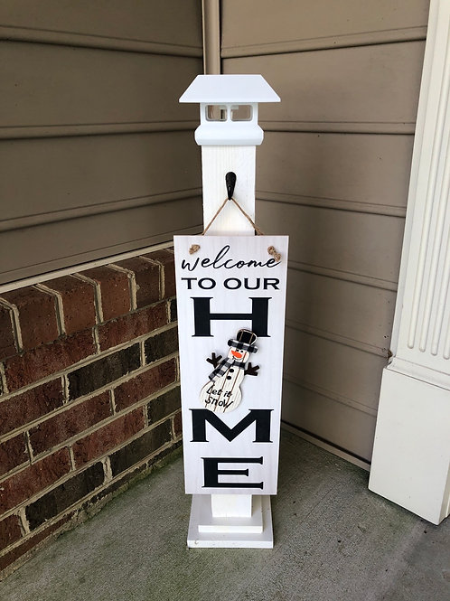 Solar Porch Post and Welcome to our HOME Sign