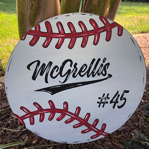 Personalized Baseball/Softball Sign - Finished