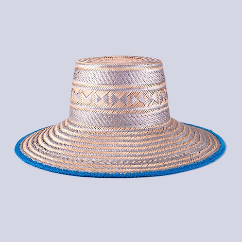Silver Cabo Hat Front View Wayuu