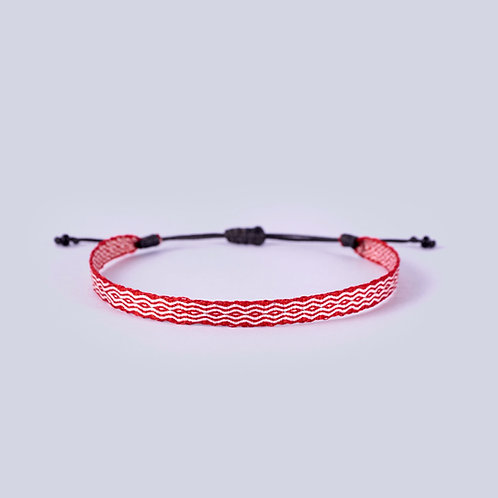 Galeras Silk Ankle band - Red/White