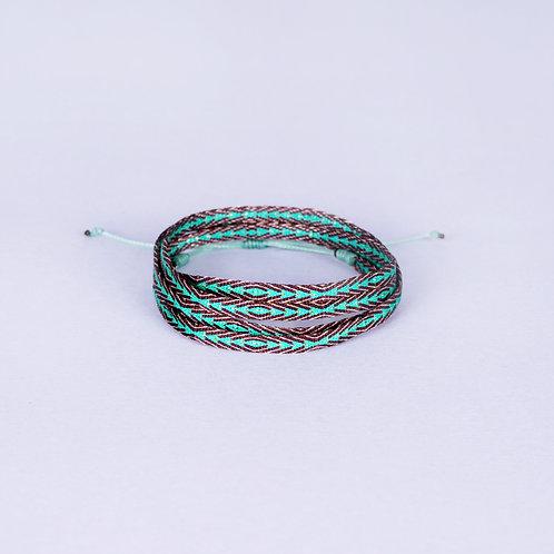 Tatama Silk Armband - Brown/Green