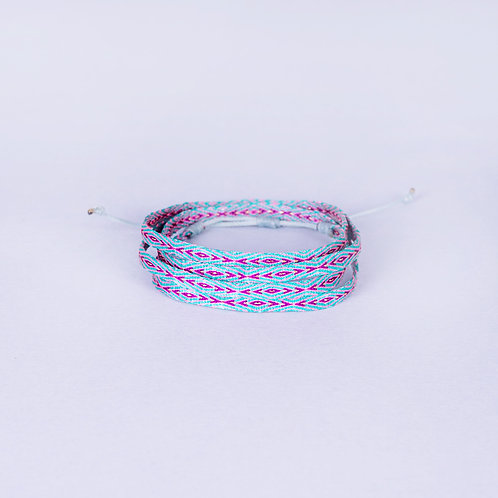 Caramanta Silk Armband - Blue/Violet