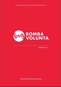 Caratula de Informe anual de la fundación Bomba Volunta 2020