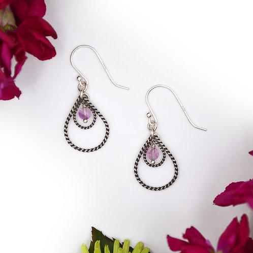 Droplets Earrings: Flourite