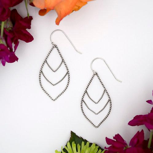 Triple Point Earrings