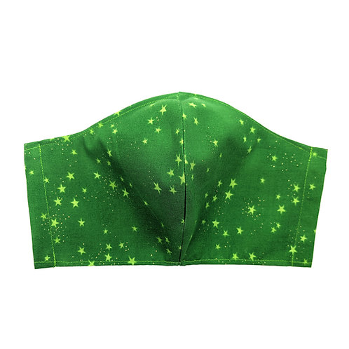 Starry Green Adult Mask: Ready to Ship