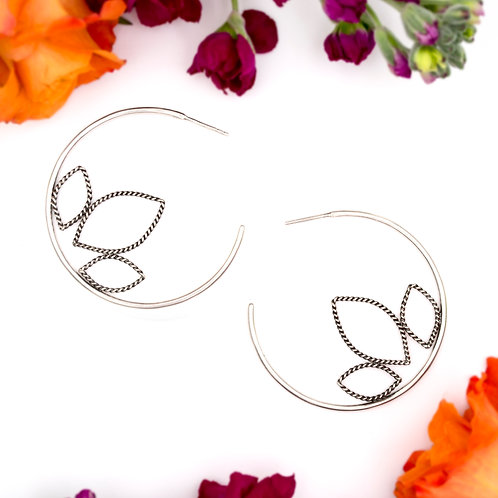 Large Lotus Hoops