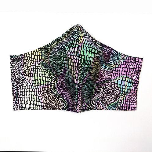 Snakeskin Shine Adult Mask: Ready to Ship