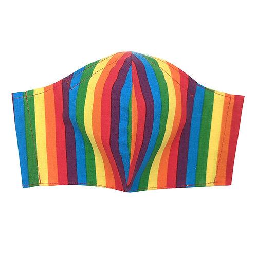 Rainbow Stripes Adult Mask V2 : Ready to Ship