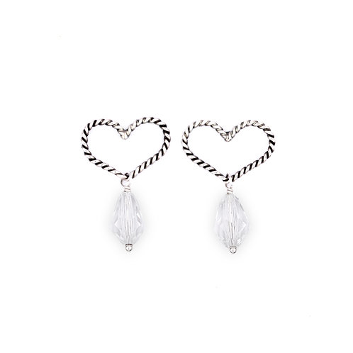 Duchess Heart Earrings: Crystal