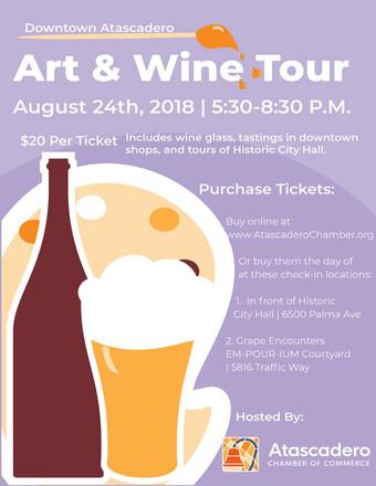 Art & Wine Tour Flyer