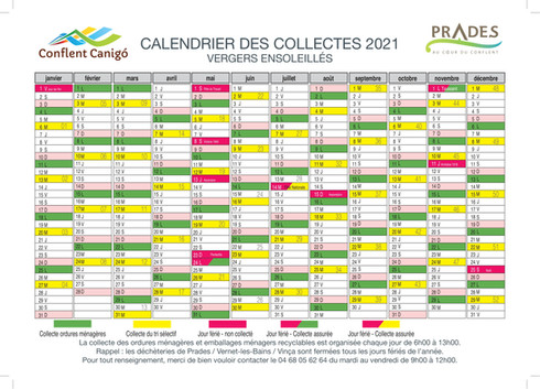 calendrier 2021- PRADES VERGERS ENSOLEIL