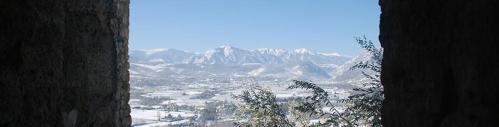 Communauté de communes conflent Canigou Canigó territoire enneigé neige hiver