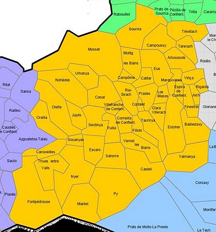 Communauté de communes conflent Canigou Canigó carte notre territoire limites